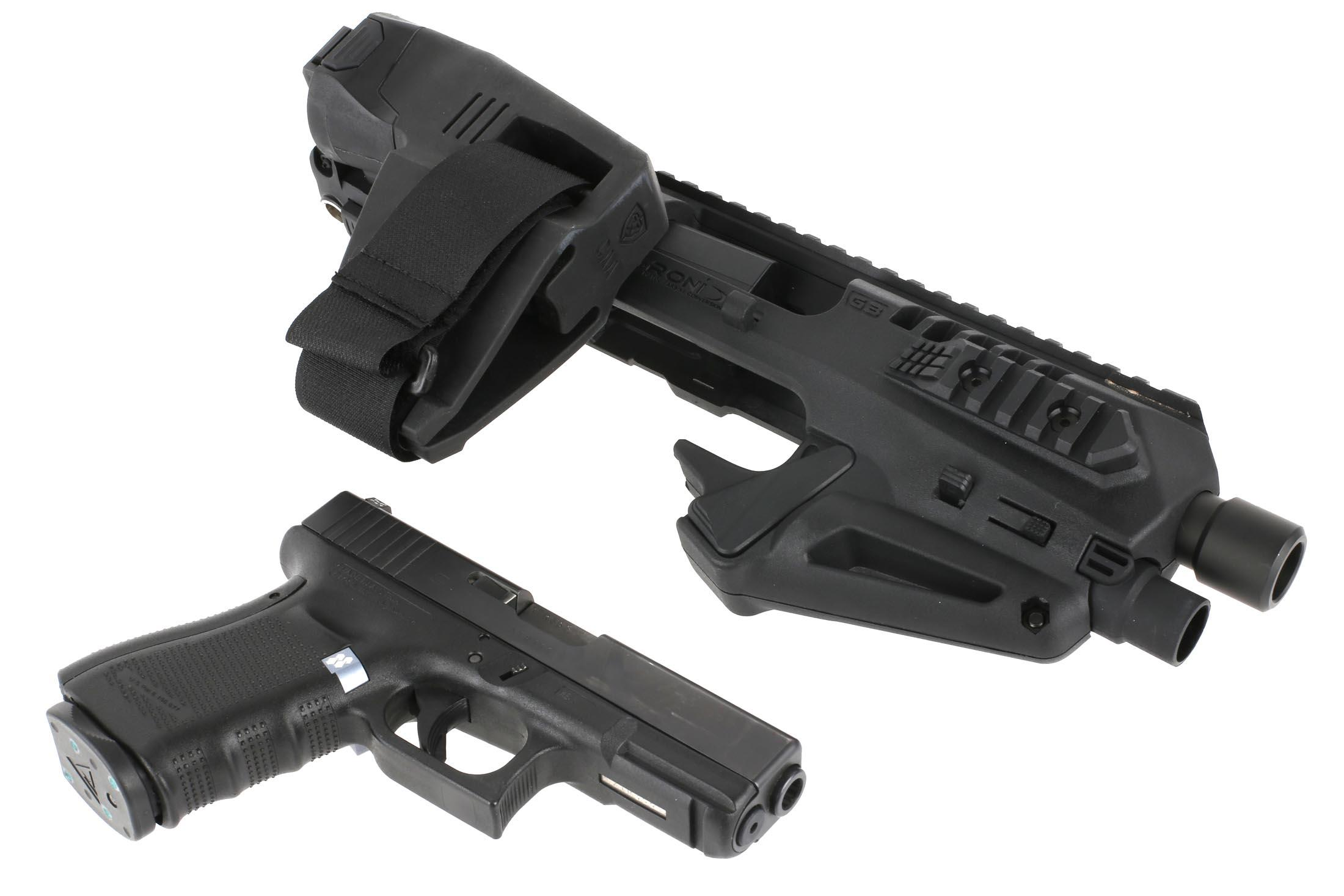 CAA Micro RONI 19 with Stabilizer - for Glock 19,23,32 - Black