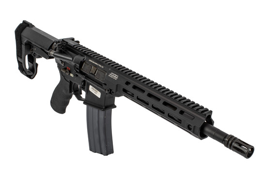 Lewis Machine & Tool MLC MARS AR Pistol features an SBA3 arm brace