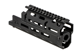 AimSports short Russian AK handguard is a two-piece option with M-LOK slots and a ful length M1913 top rail.