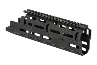 AimSports medium Russian AK handguard is a two-piece option with M-LOK slots and a ful length M1913 top rail.