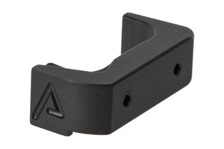The Agency Arms Glock 43 Extended Magazine Release features a black anodized finish