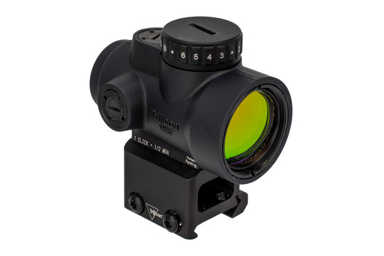 Trijicon MRO HD Red Dot Sight comes with an absolute cowitness mount