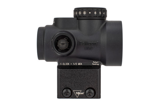 Trijicon MRO HD rugged red dot optic features a matte black anodized finish