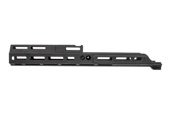 "Kinetic Development Group black MREX MK2 extends 6.5"" past the receiver of your SCAR."