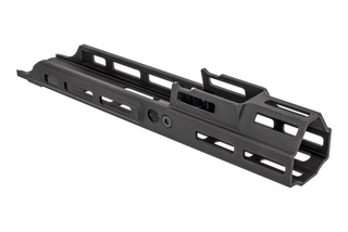 Kinetic Development Group 4.25in MREX Modular Receiver Extension for the SCAR with black anodized finish and M-LOK mounting.