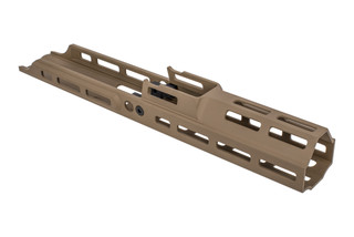 Kinetic Development Group 6.5in MREX Modular Receiver Extension for the SCAR with FDE anodized finish and M-LOK mounting.