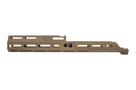 "Kinetic Development Group flat dark earth MREX MK2 extends 6.5"" past the receiver of your SCAR."