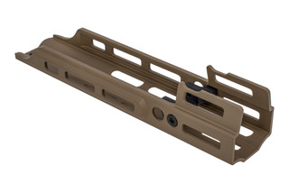 Kinetic Development Group 2.2in MREX Modular Receiver Extension for the SCAR with FDE anodized finish and M-LOK mounting.