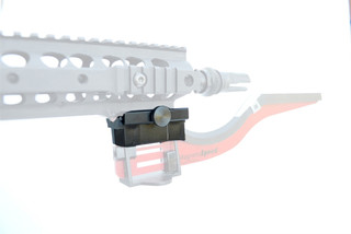 The MagnetoSpeed V3 Picatinny Rail Mount Adapter attaches to picatinny rails on your sbr or spr ar15 rifle