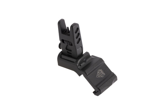 Leapers AccuSync 45-degree offset backup front iron sight features a tough anodized black finish and tough 6061 construction