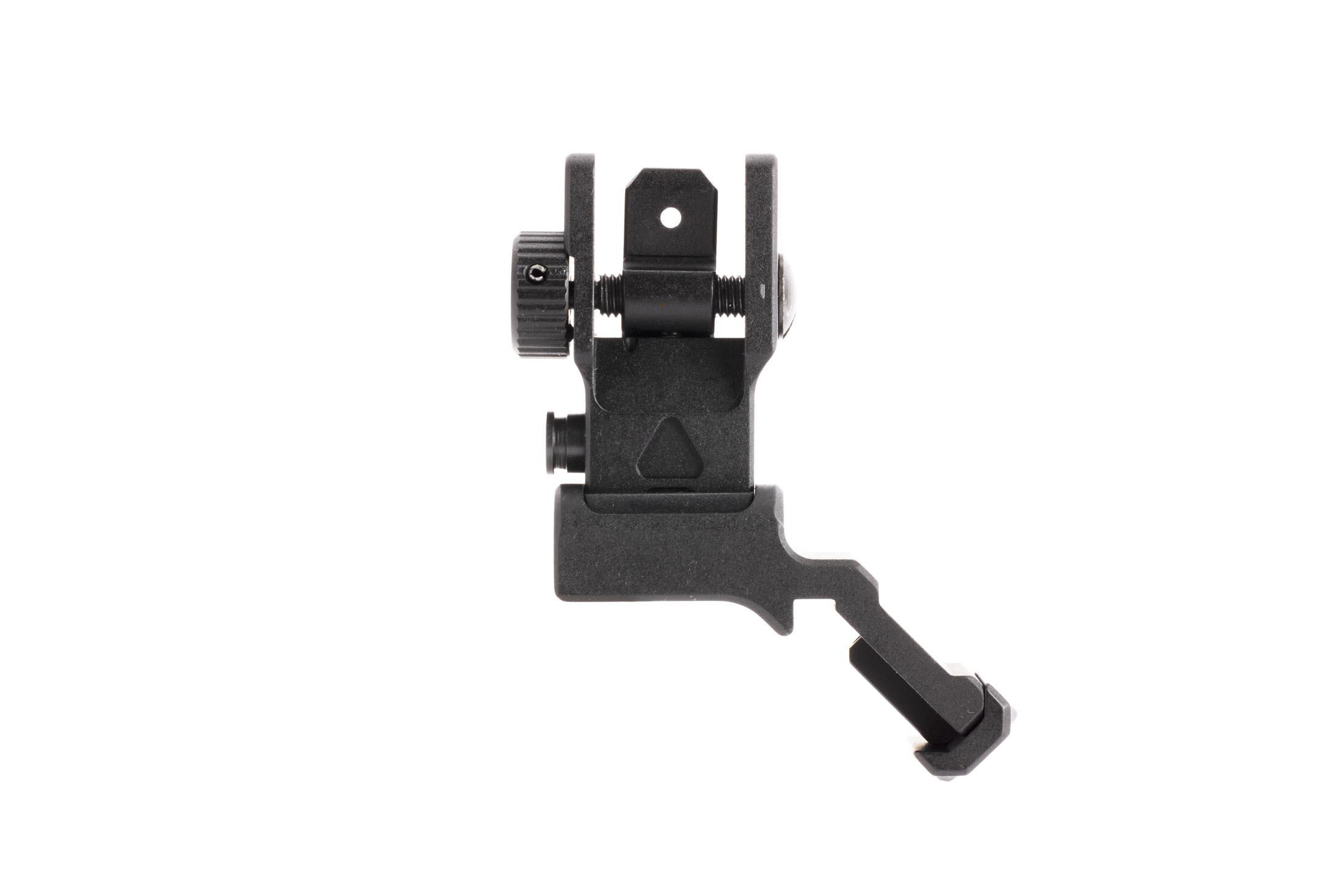 Leapers UTG 45-degree offset ACCU-SYNC rear sight easily adjust windage with a thumb wheel for fast zeroing