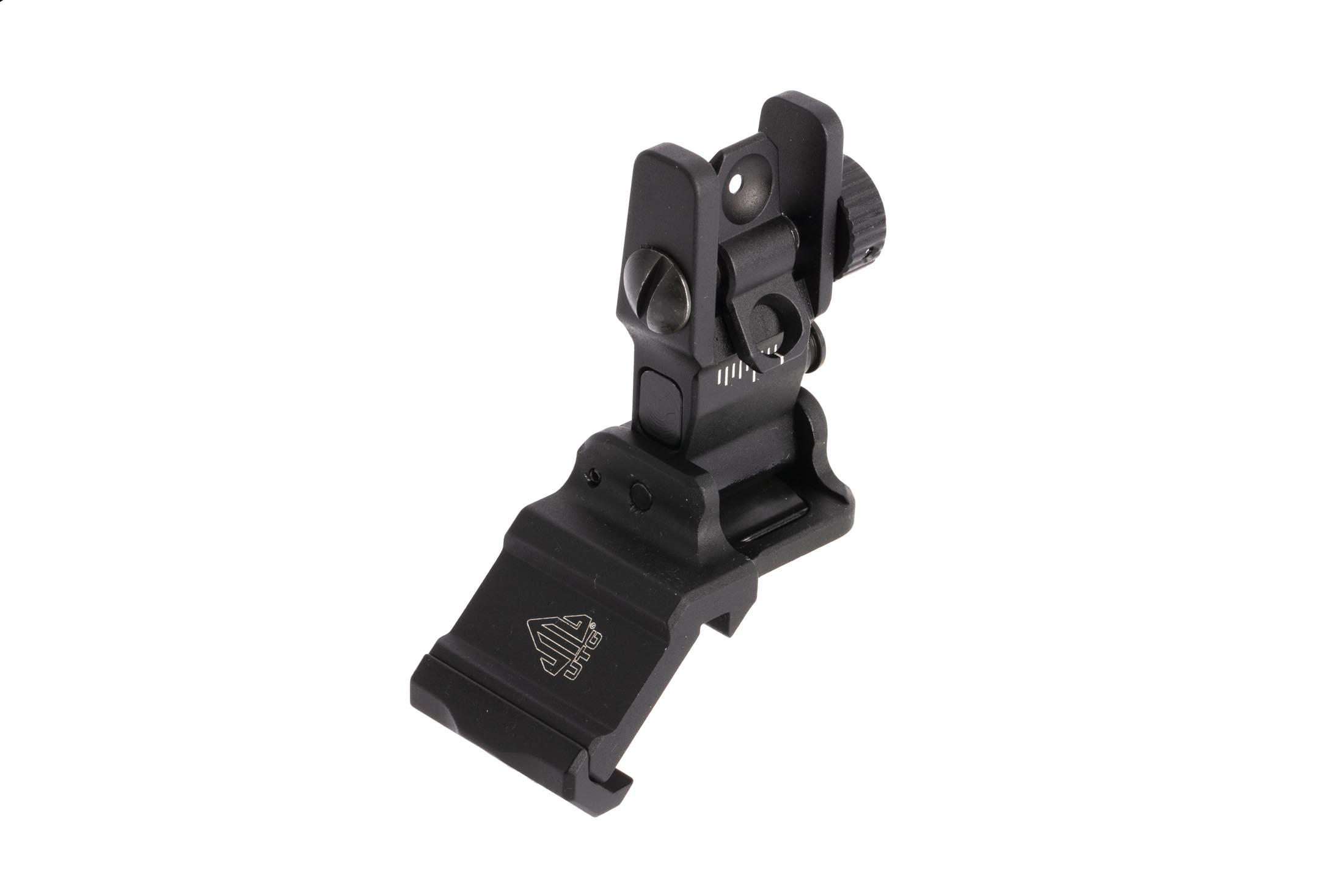 Leapers UTG ACCU-SYNC rear sight installs easily to standard M1913 picatinny rails , ideal for right handed shooters.