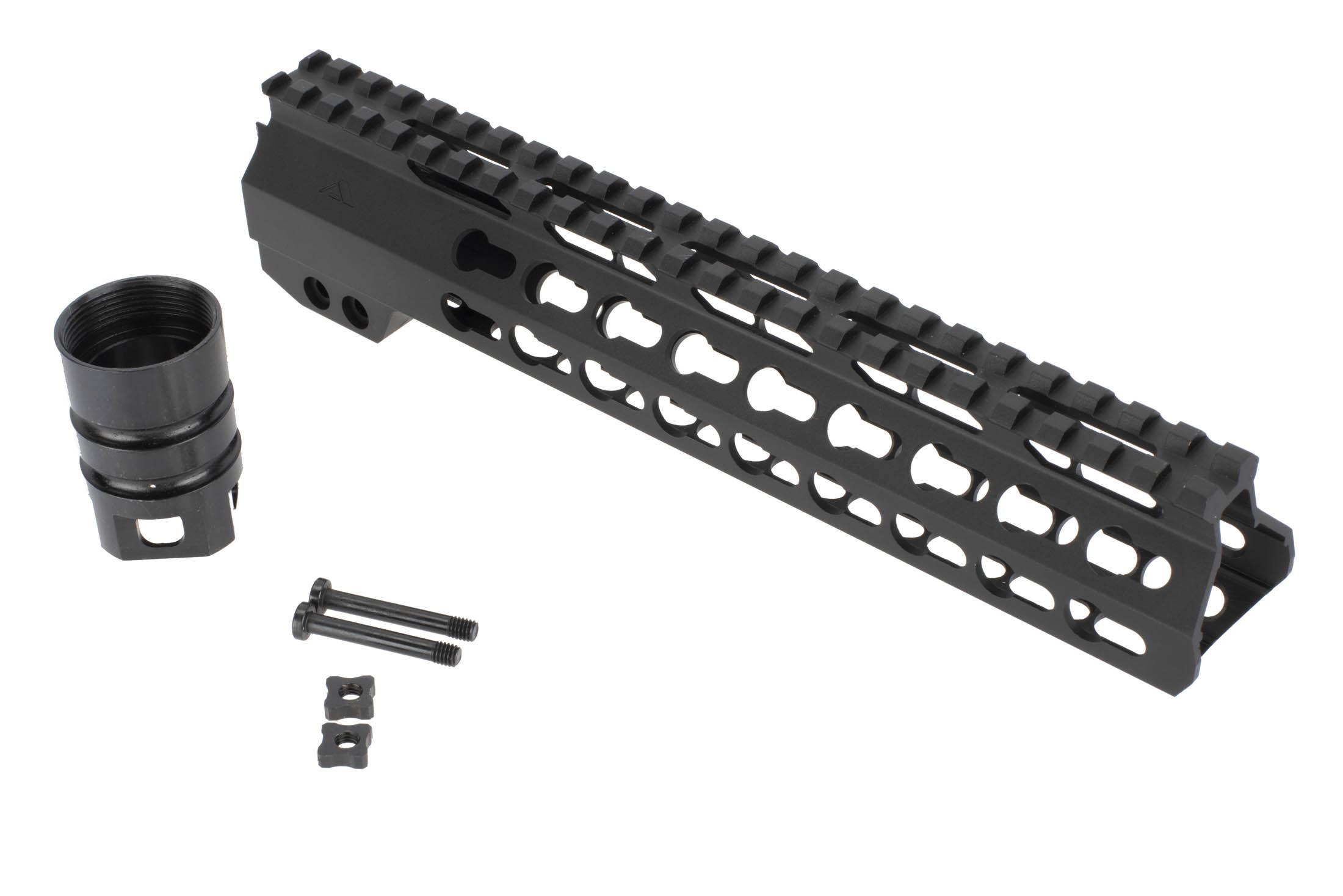 Aim Sports 10in Gen II KeyMod AR-15 free float handguard includes mounting hardware and barrel nut