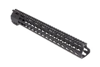 AimSports second generation 15in AR-15 free float handguard is machined from lightweight aluminum and KeyMod compatible