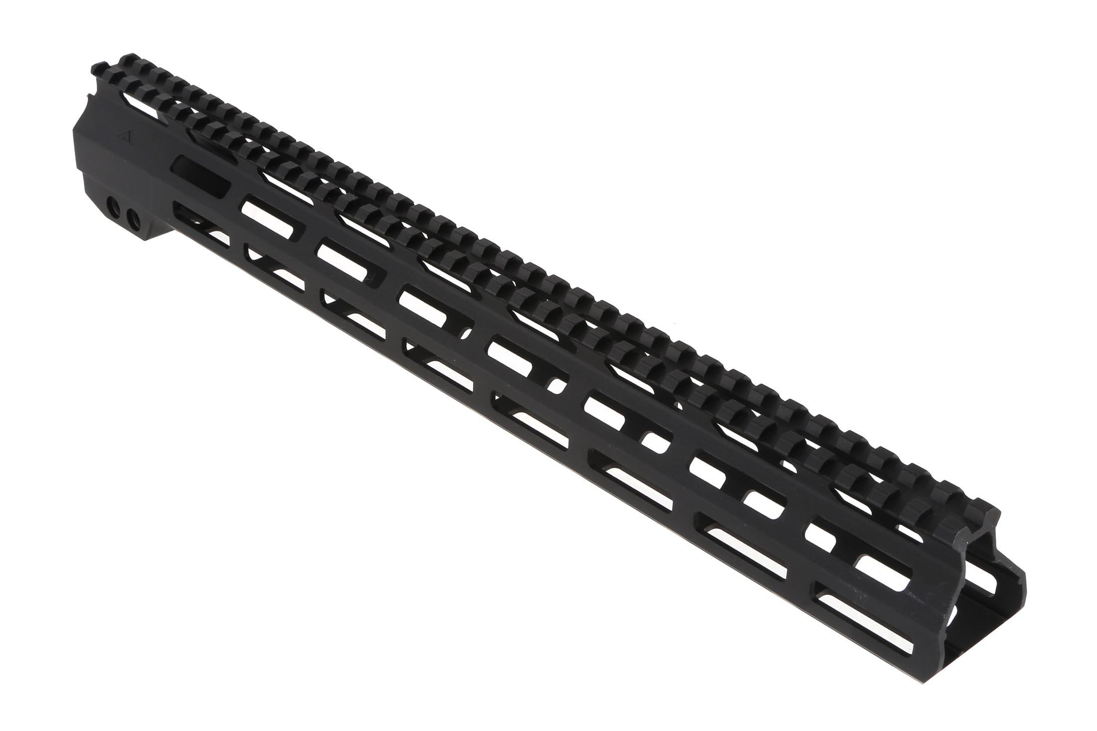 The Aim Sports AR-15 M-LOK handguard is machined from aluminum with lightening cuts to reduce weight