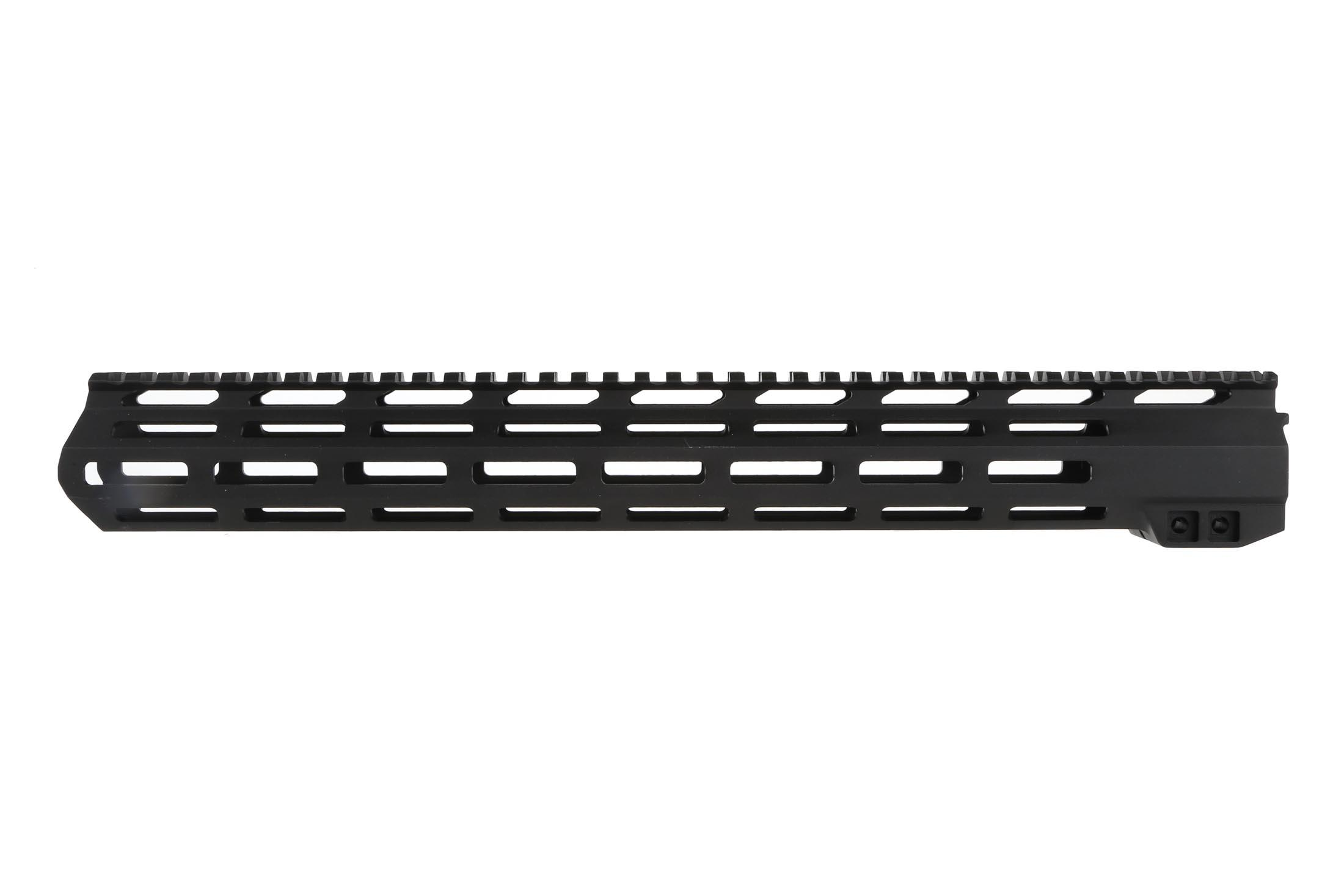 The Aimsports AR-15 handguard features a black anodized finish