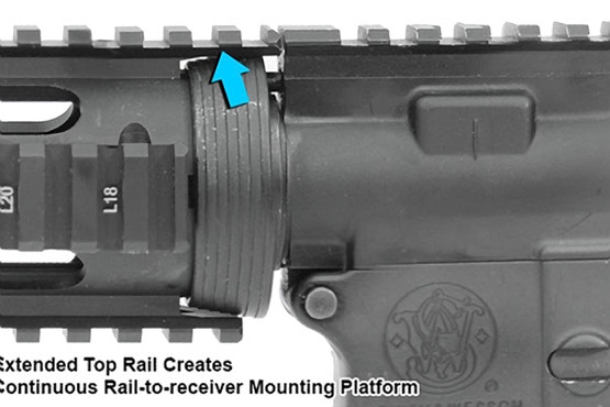 Leapers UTG PRO Model 4/15 Drop In Quad Rail Handguard with picatinny top rail