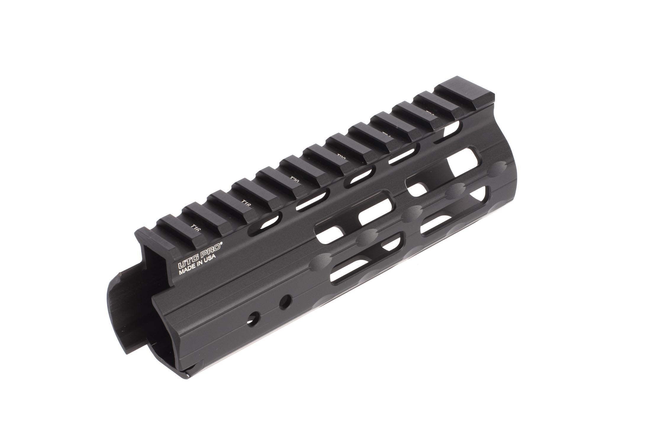Leapers UTG PRO Super Slip handguard for AR-15 pistols is just 5.5in, 3.7 oz, and features anti-rotation tabs