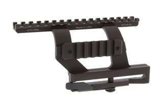 The Leapers UTG Pro quick detach AK side mount allows you to mount optics directly over bore