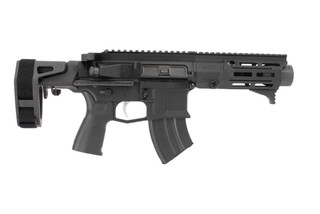 Maxim Defense PDX 762x39 AR Pistol features a black anodized finish