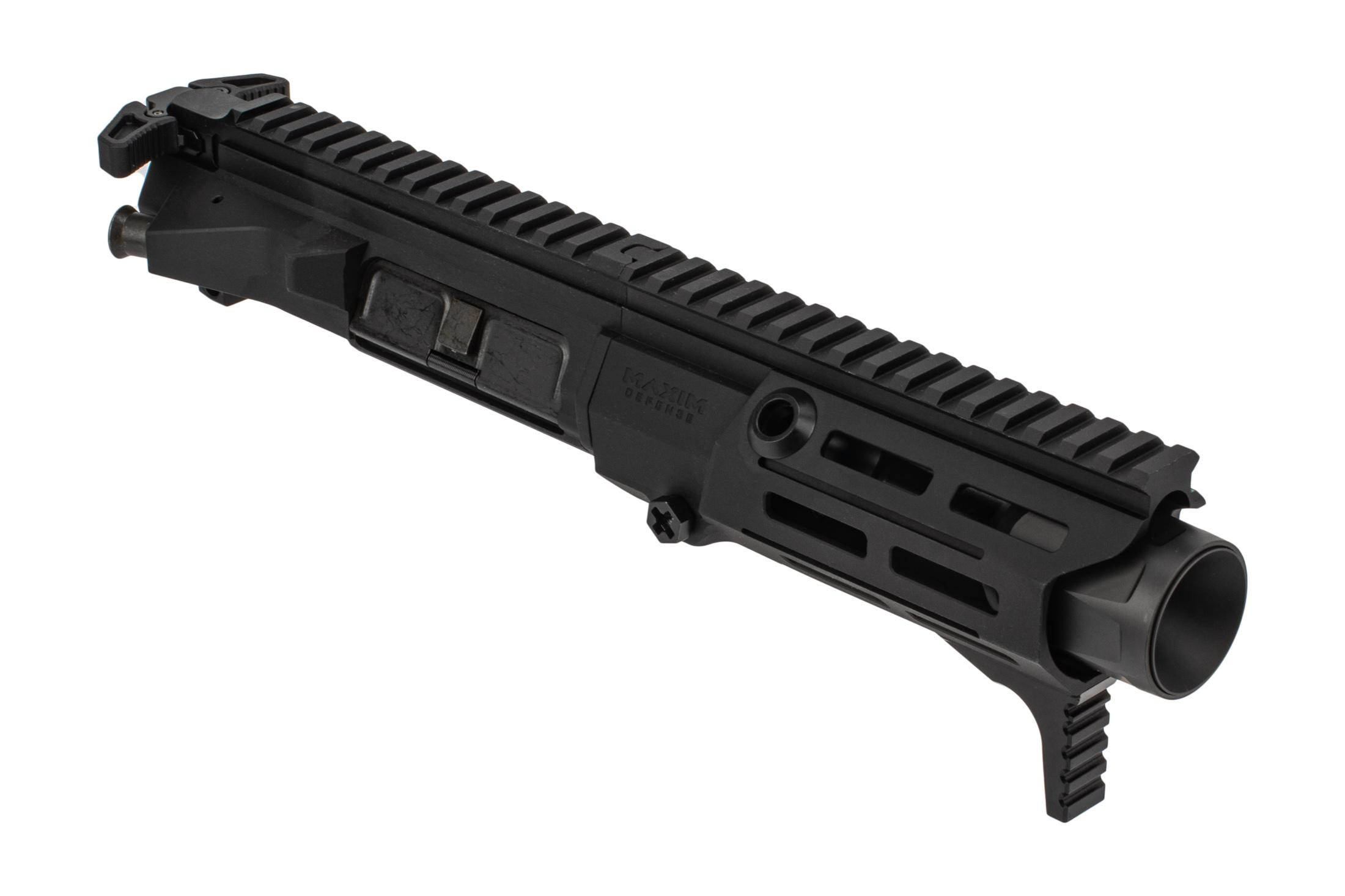 Maxim Defense PDX 5.56 Complete Upper Receiver features a black anodized finish