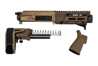 Maxim Defense PDX 7.62x39 AR Pistol Kit FDE comes with the upper, SCW brace, and buffer system