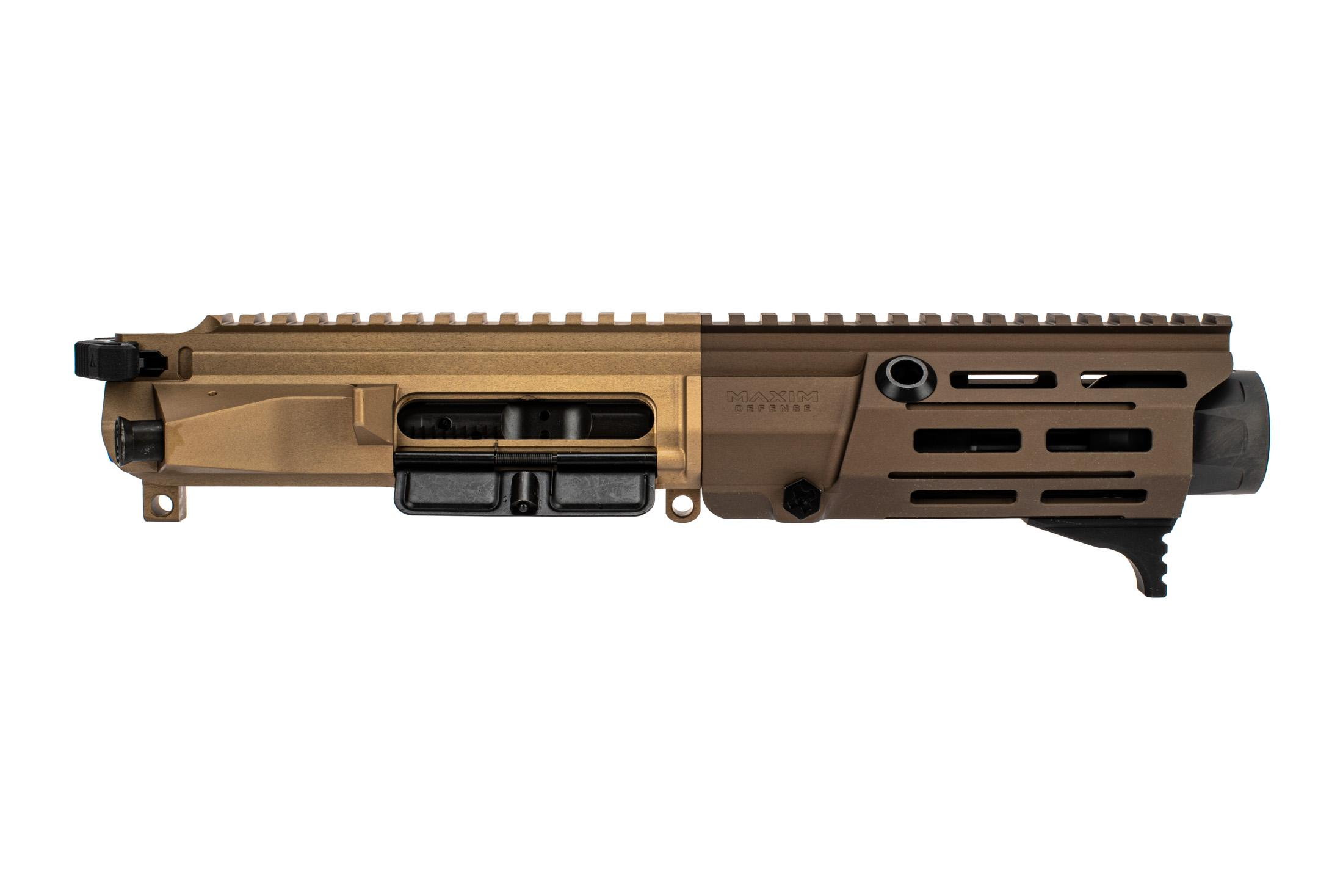 Maxim Defense PDX 7.62x39 AR15 Pistol Kit features a flat dark earth anodized finish