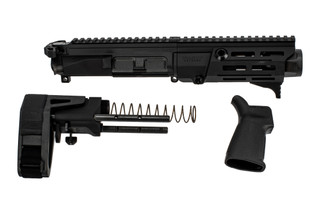 Maxim Defense PDX 7.62x39 AR Pistol Kit features a black anodized finish