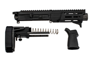 Maxim Defense PDX 5.56 AR Pistol Kit is black hardcoat anodized