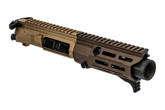 Maxim Defense PDX 300 Blackout complete upper receiver features a flat dark earth anodized finish