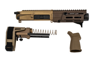 Maxim Defense PDX 300 Blackout Pistol Kit features a flat dark earth finish
