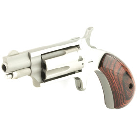NAA Mini Revolver 22 Magnum features a stainless steel finish