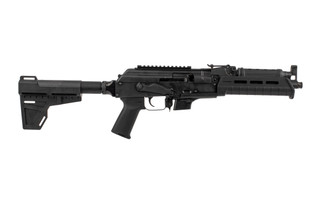 The Century Arms Draco NAK9X 9mm AK Pistol features an 11 inch barrel, Shockwave Blade Stabilizer, and Magpul furniture