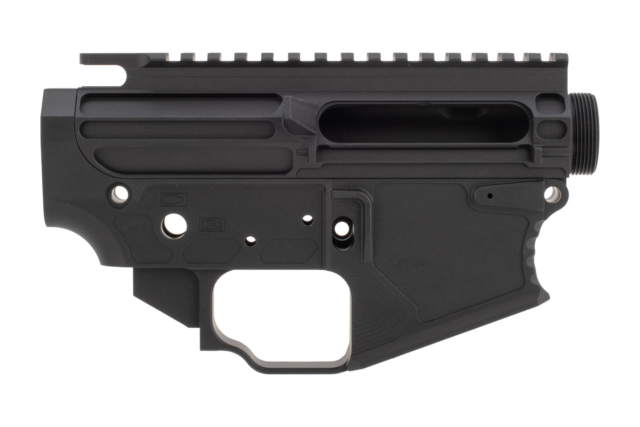 The Next Level Armament NLX-15 stripped receiver set features a mil-spec anodized black finish