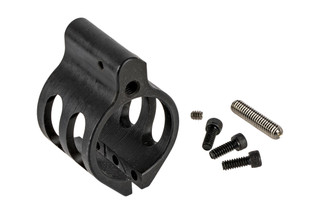 The WMD Guns Nitromet Adjustable Gas Block features a black finish