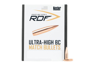 Nosler .22 cal Reduced Drag Factor Bullets 77 grain feature a boat tail hollow point design