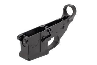 Noveske Rifleworks Gen3 stripped lower receiver features the edge defense rhino logo