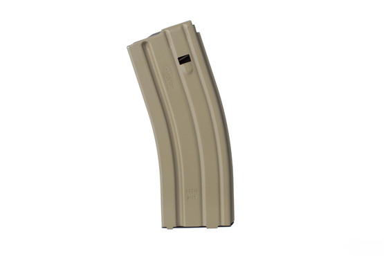 Okay Industries lightweight aluminum SureFreed 5.56 magazine holds 30 rounds of ammo and features a durable Flat Dark Earth finish