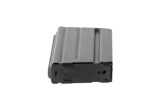 Okay Industries lightweight 20-round SureFeed 5.56 NATO magazine for the AR15 features a stamped base plate