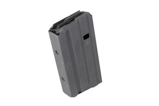 Okay Industries SureFeed AR-15 magazine holds 20 rounds of 5.56 NATO or 300 Blackout with an extended base plate and slick grey finish