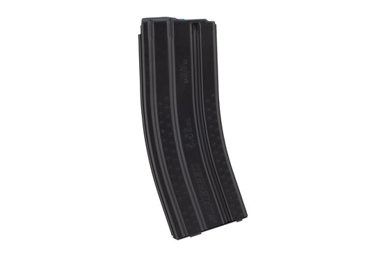 Okay Industries textured Surefeed E2 magazine in black is clearly stamped for caliber and enhanced grip