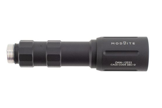 Modlite OKW-18650 compact weapon light is 680 lumens output and compatible with Scout Light Mounts. Does not include tail cap.