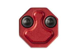 The Phase 5 Tactical oversized red magazine release features an extended octagonal design for fast manipulations