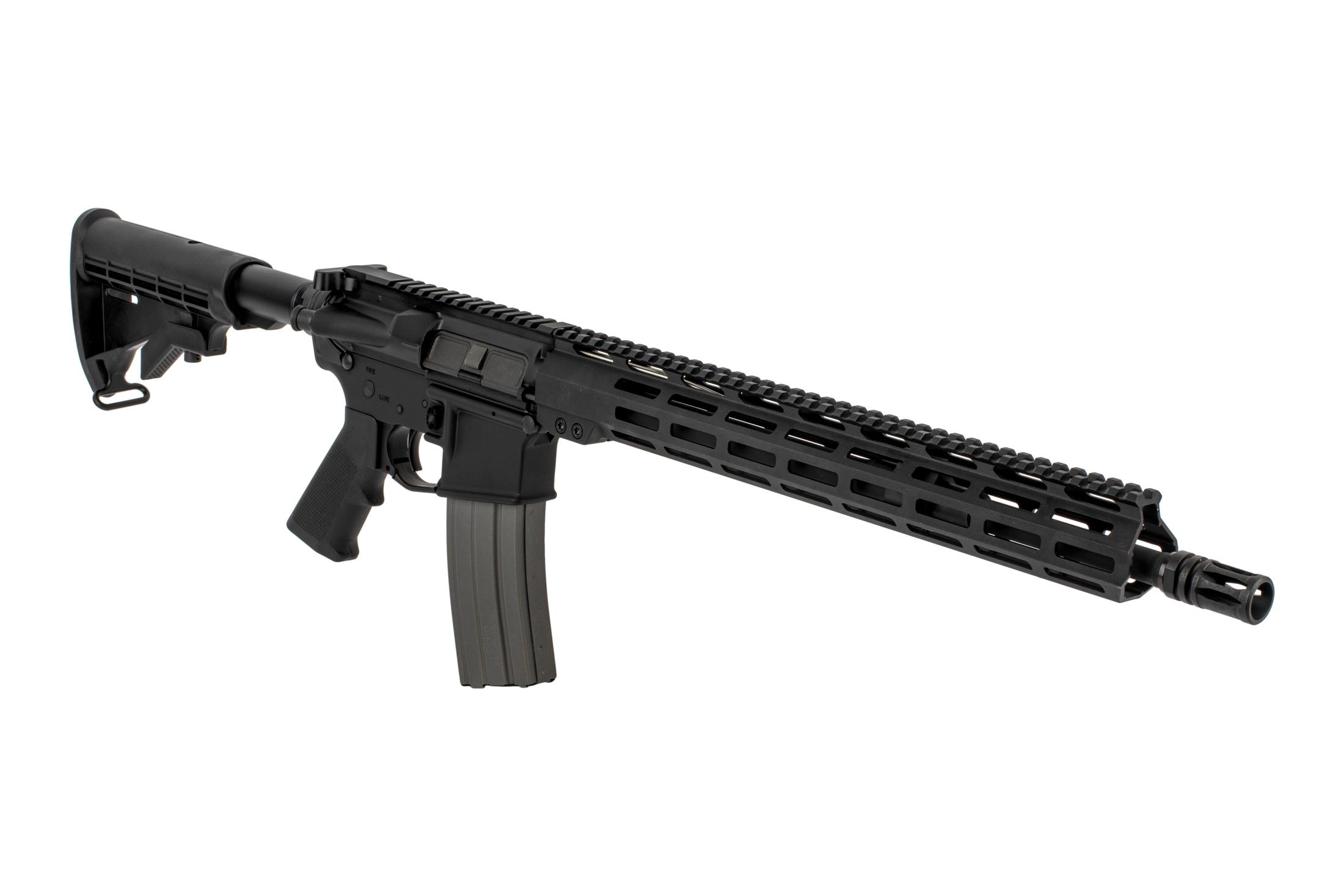 The DelTon AR15 Sierra 316L Rifle features a mid-length gas system and lightweight barrel profile