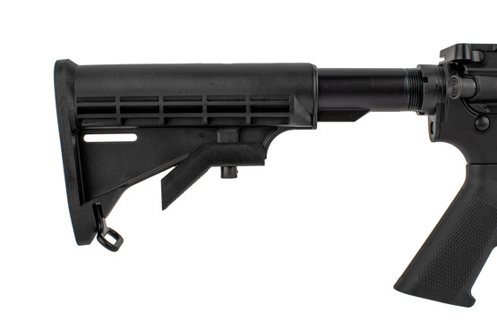 The AR-15 Del-Ton Rifle features an M4 collapsible carbine stock