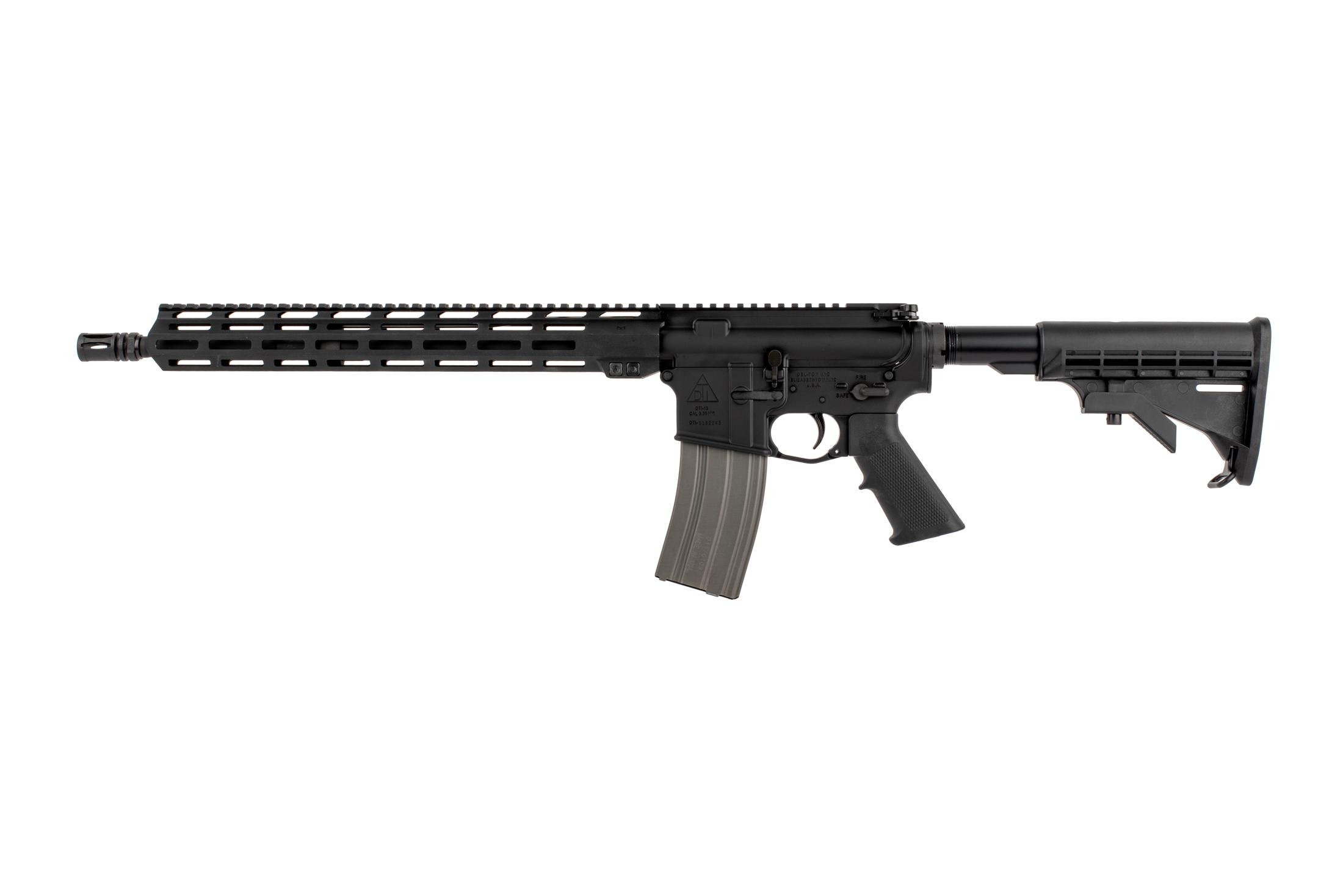 The Del-Ton AR15 Sierra 316L Carbine comes with a 30 round aluminum magazine
