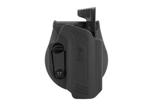 Orpaz Defense CZ P10 Level 2 holster features a thumb release