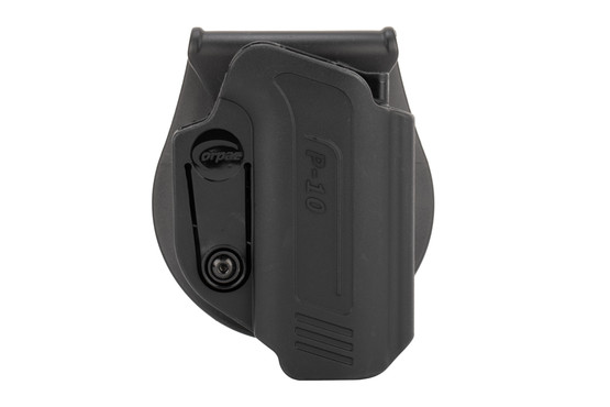Orpaz Defense CZ P10 Holster features level 1 retention
