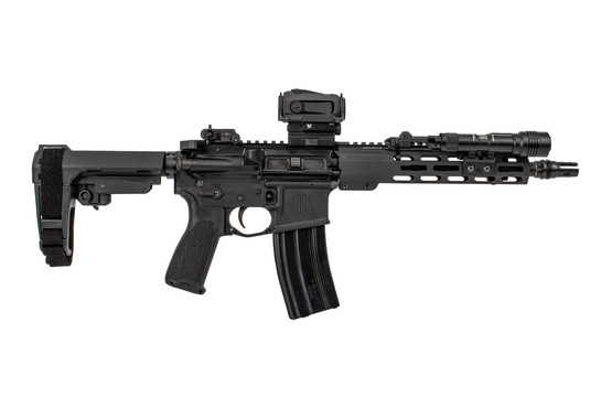 Head Down Firearms OTG AR Pistol Package features a red dot sight and pistol arm brace