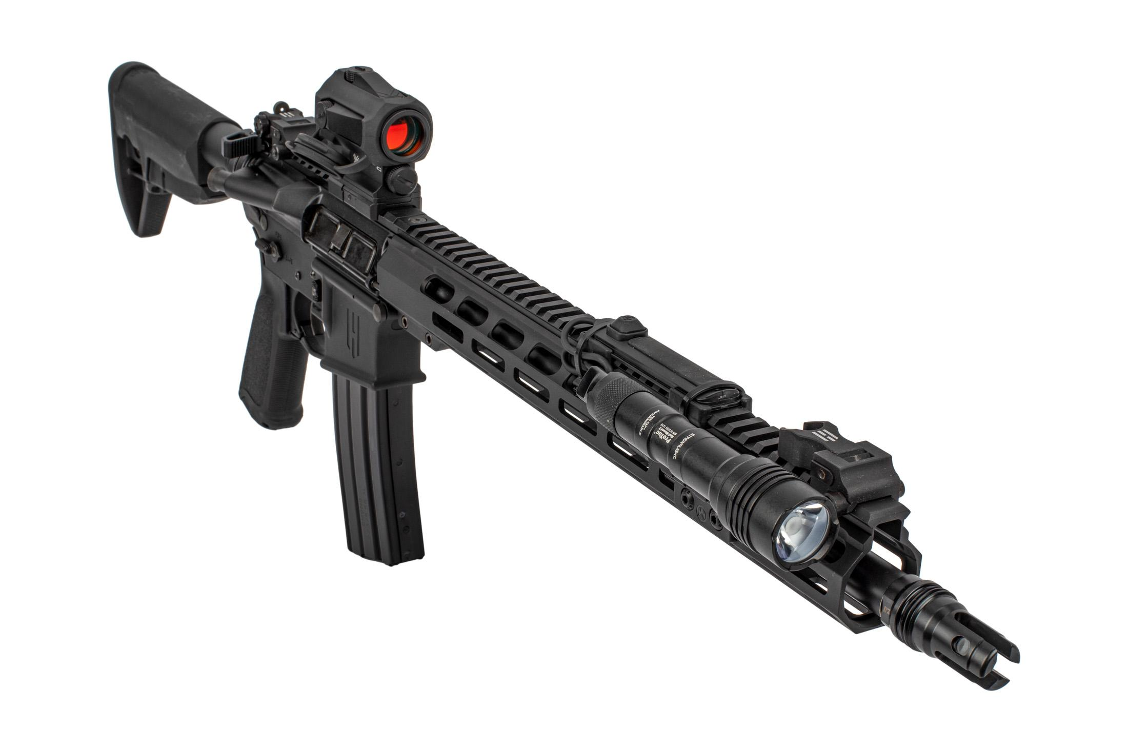 Head Down OTG AR-15 complete rifle features a 1000 Lumen weapon light and tape switch